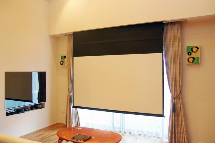 H邸 /リビングシアター、ダイニング、寝室をネットワークで結んで音楽を配信 Artcoustic INTELUX
