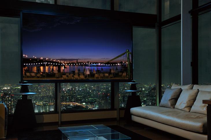 J邸 / 東京を一望する空間に、映像と音の心地よい環境をデザインする。BeoLab5 BeoSound5で映像・音楽をスマートにコントロール