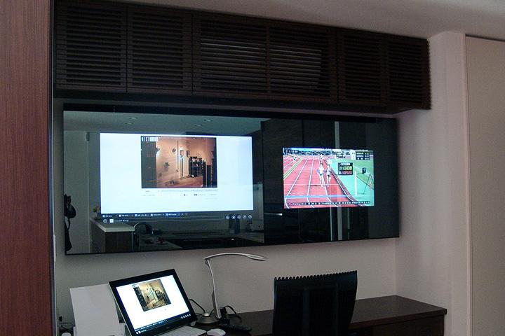 Y邸 /ネットワーク配信 65インチ4Kテレビ Bang&OlufsenのBeoLab18 INTELUX